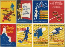 KANARIE-BOEKJES – serie van 8 boekjes (ca. 1940-1950)