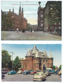 SET van 2 ansichtkaarten - Amsterdam - 1908-1960