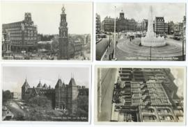 SET van 4 ansichtkaarten - Amsterdam – 1953-1956