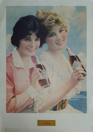 Coca Cola poster: Two Flappers - 1970 (1912)