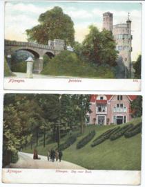 SET van 2 ansichtkaarten - Nijmegen - 1904-1922