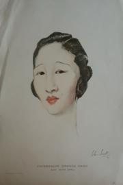 Prent – CHINEESCHE GRANDE DAME DOOR OLIVE SNELL - 1924