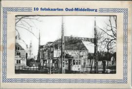 Mapje - 10 fotokaarten Oud-Middelburg - ca. 193x (#)