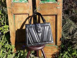 Zwarte vintage tas
