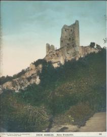 Prent – FOTO – DER RHEIN. Ruine Drachenfels (kleur) - 1903