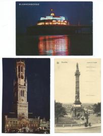 SET van 3 ansichtkaarten – België – o.a. 1932
