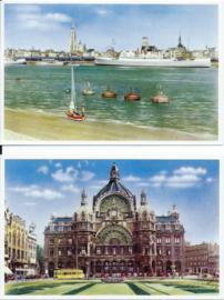 SET van 2 ansichtkaarten - België - ANTWERPEN / ANVERS - ca. 1950