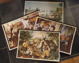 Wandplaten - Serie - Geschiedenis-vertelplaten – 15 van 18 stuks - 1979
