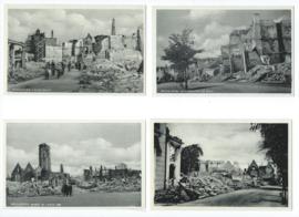 Set van 11 fotokaarten – Middelburg oorlogsschade
