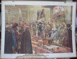 Schoolplaat: Karel V doet afstand van de Regering - ca. 1934