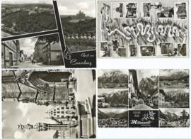 SET van 4 ansichtkaarten – Duitsland – o.a. 1963, 1964