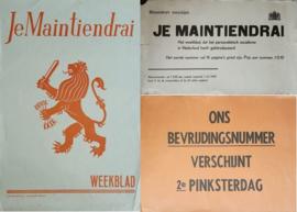 Set van 3 posters: Je Maintiendrai - 1943-1945