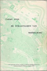 DE STRAATNAMEN VAN MIDDELBURG - 1979