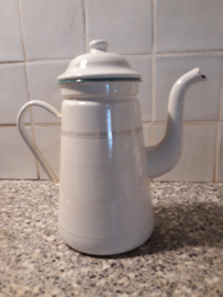 Emaille koffiepot groot
