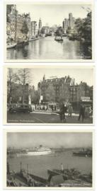 SET van 3 ansichtkaarten - Amsterdam – 1958-1960
