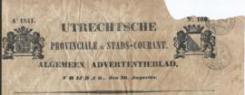 UTRECHTSCHE PROVINCIALE EN STADS-COURANT. Ao 1841. – No. 100.