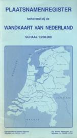 PLAATSNAMENREGISTER behorende bij de WANDKAART VAN NEDERLAND – ca. 1990