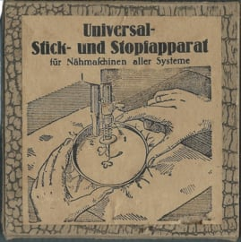 Universal Stick- und Stopfapparat für Nähmaschinen aller Systeme – ca. 1930