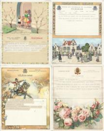 SET van 4 oude belgische telegrammen – 1942-1952