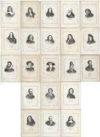 SET van 21 portretten van kunstschilders - 1877