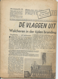 "Krant - Walcheren: ""Der zee ontrukt"" EXTRA NUMMER - PZC - 1954"