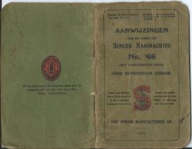 AANWIJZINGEN VOOR HET GEBRUIK DER SINGER NAAIMACHINE NO. 66 - 1923