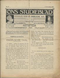 ONS STUDIEBLAD – Weekblad voor zelfstudie - 106 stuks - 1915-1917