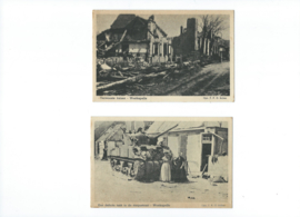 Set van 5 ansichtkaarten – Westkapelle  oorlogsschade