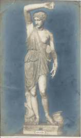 Prent – FOTO - standbeeld AMAZONE (Mattei-collectie)