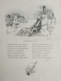 WATERSNOOD 1953 - Anton Pieck / Barend Rijdes – 1953
