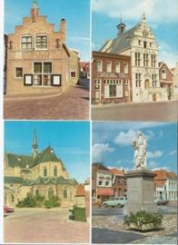 SET van 4 ansichtkaarten - Brouwershaven