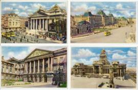 SET van 7 ansichtkaarten - België - BRUXELLES / BRUSSEL - ca. 1950