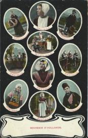 Ansichtkaart SOUVENIR D' HOLLANDE. - ca. 1905-1910