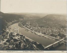 Prent – FOTO – DIE MOSEL. Traben-Trarbach mit Gräfinburg - 1908 - 2 stuks