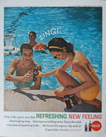 Prent - Coca-Cola - 'ZING! - swimming pool' - 1962