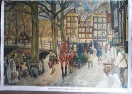 Poster: Stadsleven tegen het midden van de 19e eeuw - ca. 1975 (1950)