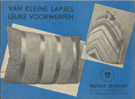 VAN KLEINE LAPJES LEUKE VOORWERPEN H 73 - ca. 1950