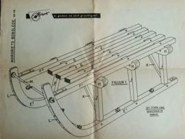 Bouwtekening – EEN BOBSLEE (No. 5601) – ca. 1956