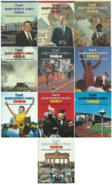 het aanzien van … 1980 t/m 1989 (10 stuks) – (div auteurs) - 1981 t/m 1990