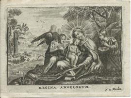 Bidprent - Regina Angelorum voor Cornelius Dominicus Vosch van Avesaet (1756-1818) - 1818