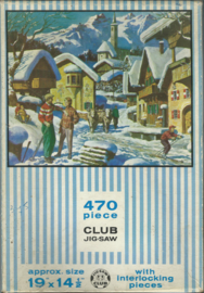 JIGSAW PUZZLE – 470 piece CLUB JIG-SAW - A SWISS VILLAGE – 1961-1965