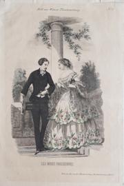 Prent – Les modes Parisiennes – Bild zur Wiener Theaterzeiting No. 17 - ca. 1875
