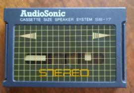 AudioSonic CASSETTE SIZE SPEAKER SYSTEM SB-17 – STEREO – jaren '90
