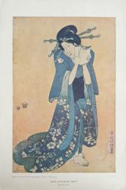 Prent – OUDE JAPANSCHE PRENT door KUNISHIGE - 1922