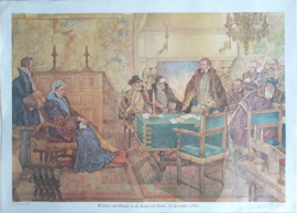 Poster: Willem van Oranje in de Raad van State, 31 december 1564 - ca. 1975 (1951-1968)