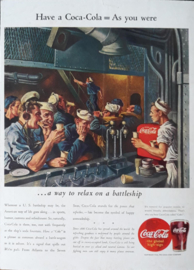Prent - Coca-Cola - 'Have a Coca-Cola = As you were' - 1944