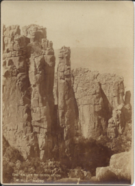 Prent – FOTO - THE VALLEY OF DESOLATION (S.A.) – William Roe – ca. 1900