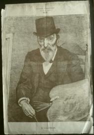 Prent – Bekende Tijdgenooten naar het leven geschetst. XLII – H. VALKENBURG - 1896