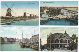SET van 4 ansichtkaarten - Rotterdam - 1913-1915