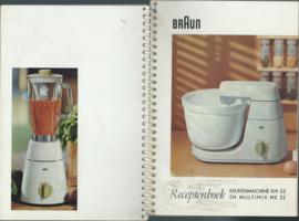 Receptenboek - BRAUN KEUKENMACHINE KM 32 EN MULTIMIX MX 32 - ca. 1964